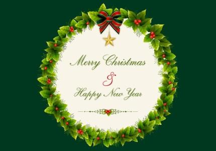 christmas-holly-wreath-vector-background